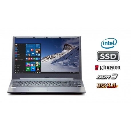 MULTI•BOOK N3050:  Intel Dual Core tot 2x 2.16 GHz  / 4GB DDR3 / 120GB SSD / USB3.0 / Webcam