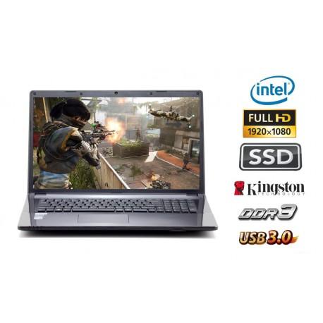 GAME•BOOK 17G6100: Intel Core i3 Skylake tot 2 x 2.3 GHz  / 120GB SSD / 4GB DDR3  / USB 3.0 / FULL HD IPS