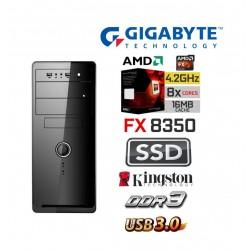 AMD FX-8350 Vishera EIGHT Core 4.2 Ghz Multimedia Systeem: Kingston 120 GB SSD / 4 GB Geheugen / USB 3.0